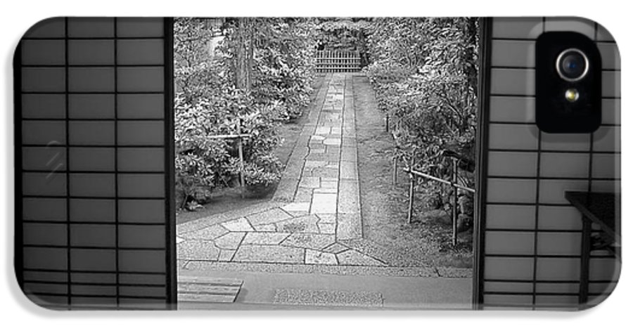 Japan IPhone 5 Case featuring the photograph Zen Garden Walkway by Daniel Hagerman