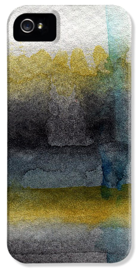 Abstract IPhone 5 / 5s Case featuring the painting Zen Moment by Linda Woods