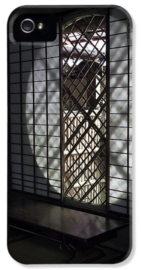 Window IPhone 5 Case featuring the photograph Zen Temple Window - Kyoto by Daniel Hagerman