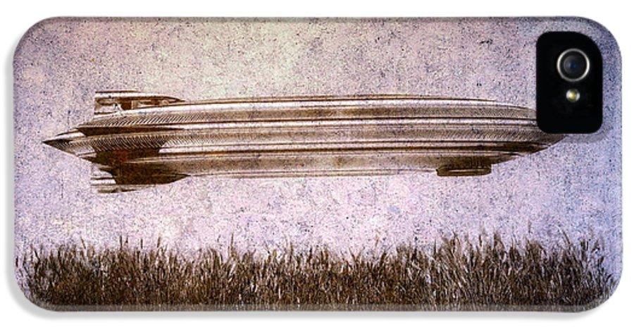 Zeppelin IPhone 5 Case featuring the digital art Zeppelin by Bob Orsillo