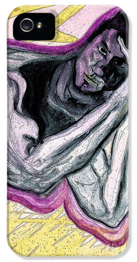 First Star Art IPhone 5 Case featuring the painting Zeus by First Star Art