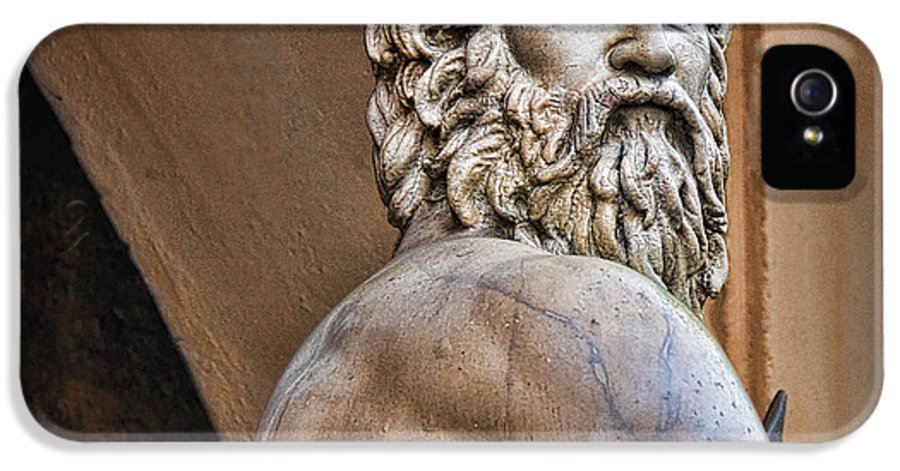Marble Statue IPhone 5 Case featuring the photograph Zeus by Lee Dos Santos