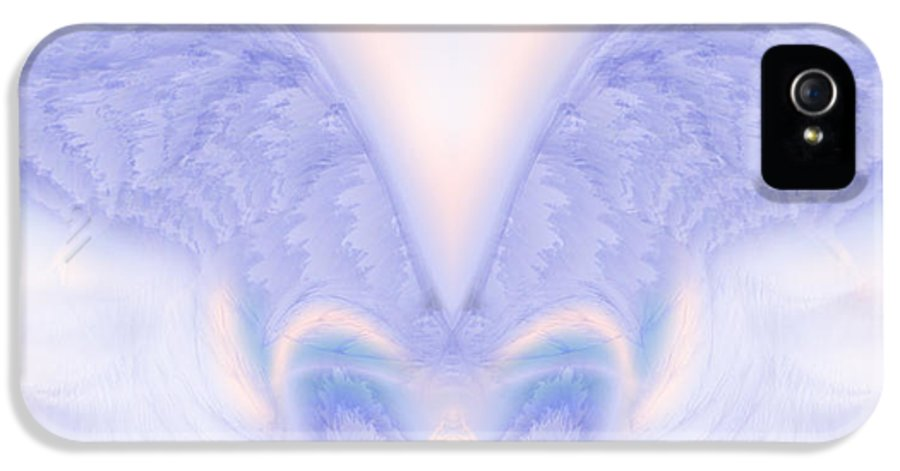 Angel IPhone 5 Case featuring the painting Angel Wings by Christopher Gaston