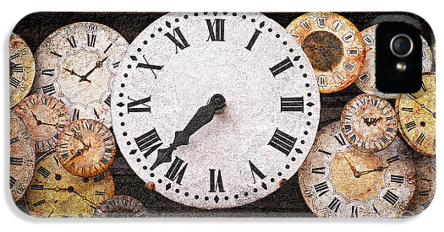Clock IPhone 5 Case featuring the photograph Antique Clocks by Elena Elisseeva