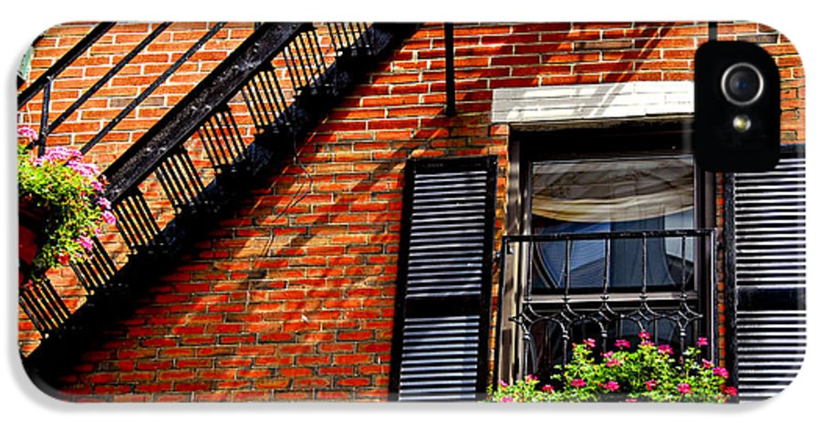 House IPhone 5 / 5s Case featuring the photograph Boston House Fragment by Elena Elisseeva