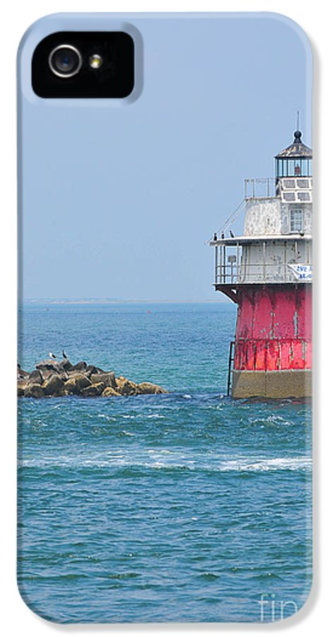 Plymouth Ma Photograph IPhone 5 Case featuring the photograph Bug Light by Catherine Reusch Daley