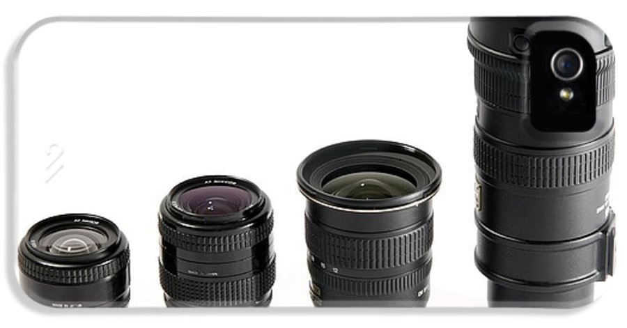 Nikon IPhone 5 Case featuring the photograph Camera Lenses by Johnny Greig