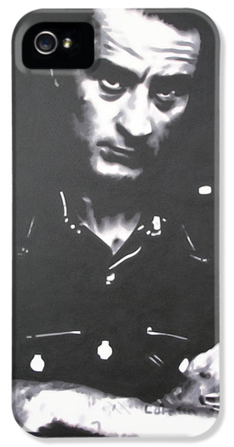 Robert De Niro IPhone 5 Case featuring the painting Cape Fear by Luis Ludzska