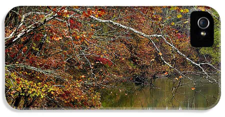 West Virginia IPhone 5 Case featuring the photograph Fall Along West Fork River by Thomas R Fletcher