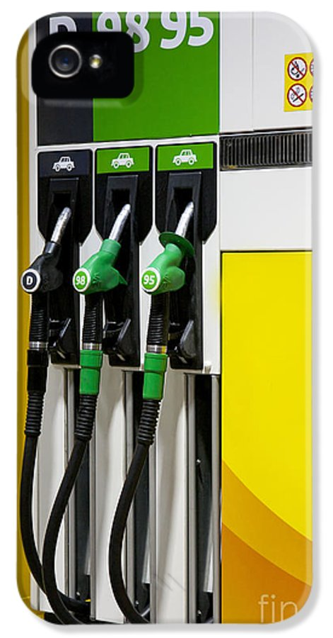 Business IPhone 5 Case featuring the photograph Gas Pumps At A Station by Jaak Nilson