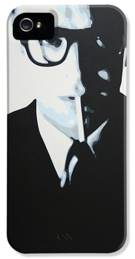 Michael Caine IPhone 5 Case featuring the painting Palmer by Luis Ludzska