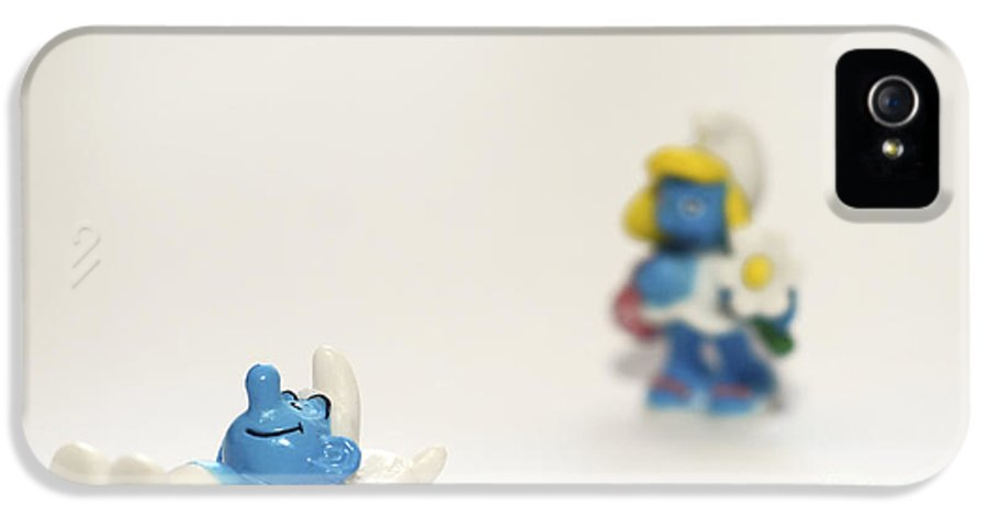 Smurf IPhone 5 Case featuring the photograph Smurf Figurines by Amir Paz