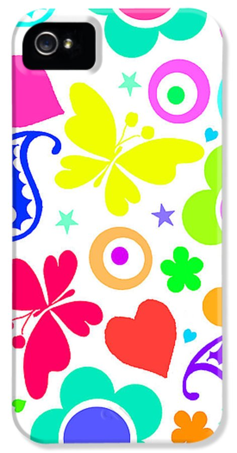 Summer Fun (digital) By Louisa Knight (contemporary Artist) IPhone 5 Case featuring the painting Summer Fun by Louisa Knight