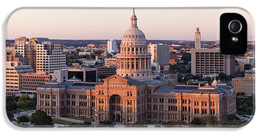Architectural Detail IPhone 5 Case featuring the photograph Texas State Capitol by Jeremy Woodhouse