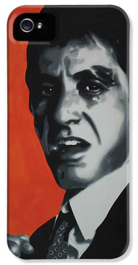 Scarface IPhone 5 / 5s Case featuring the painting - Scarface - by Luis Ludzska