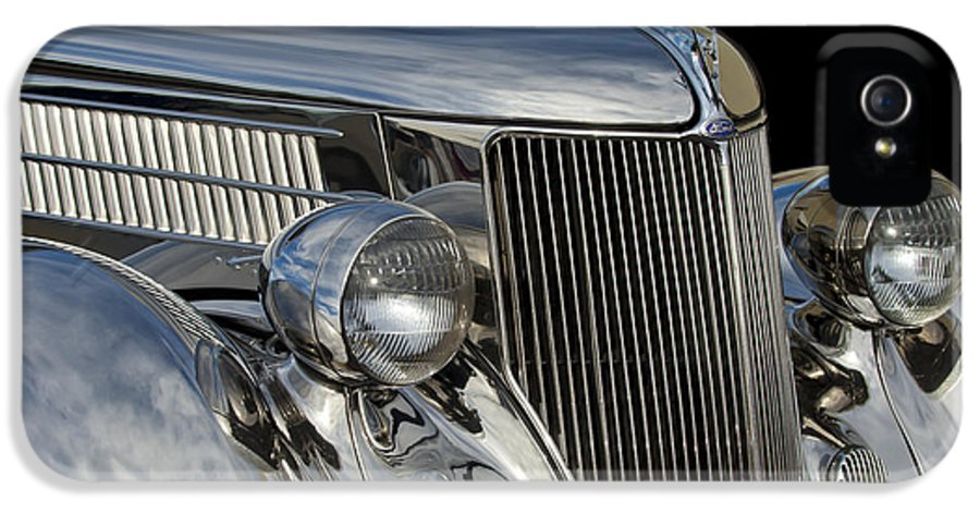 1936 Ford - Stainless Steel Body IPhone 5 Case featuring the photograph 1936 Ford - Stainless Steel Body by Jill Reger