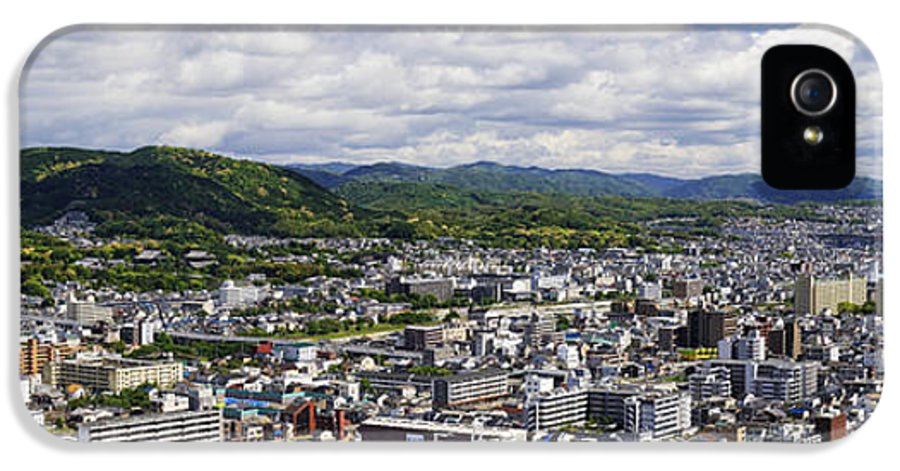 Aerial IPhone 5 Case featuring the photograph Aerial Japanese Cityscape by Jeremy Woodhouse