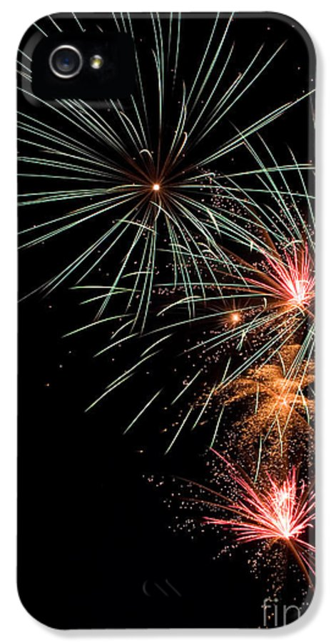 Fireworks IPhone 5 Case featuring the photograph Fireworks by Cindy Singleton