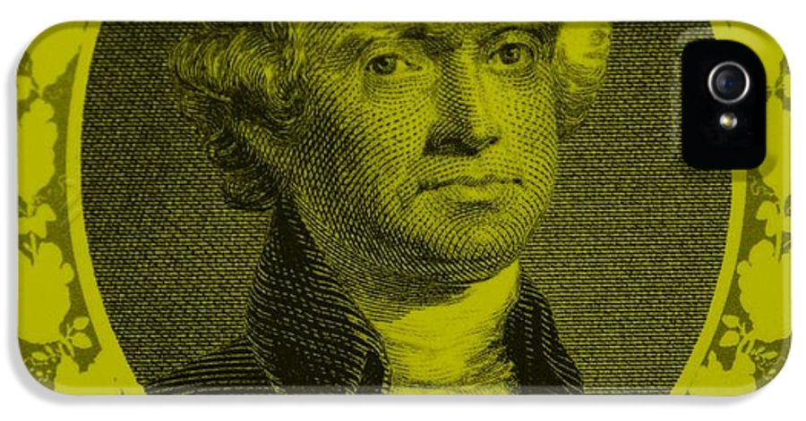 Thomas Jefferson IPhone 5 Case featuring the photograph Thomas Jefferson In Yellow by Rob Hans