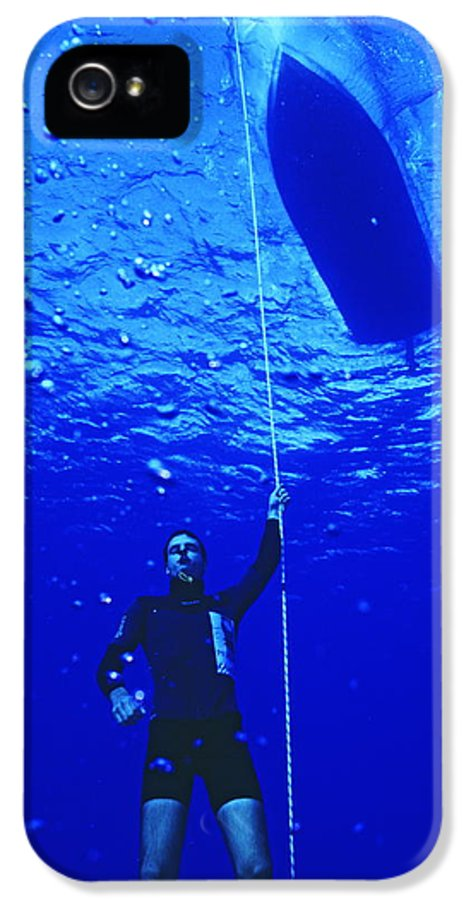 Equipment IPhone 5 Case featuring the photograph Free-diver by Alexis Rosenfeld