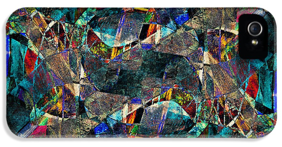 Abstract IPhone 5 Case featuring the painting Abstract Composition by Michal Boubin