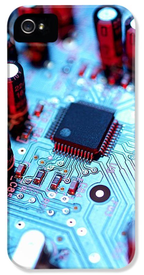 Circuit Board IPhone 5 Case featuring the photograph Circuit Board by Tek Image