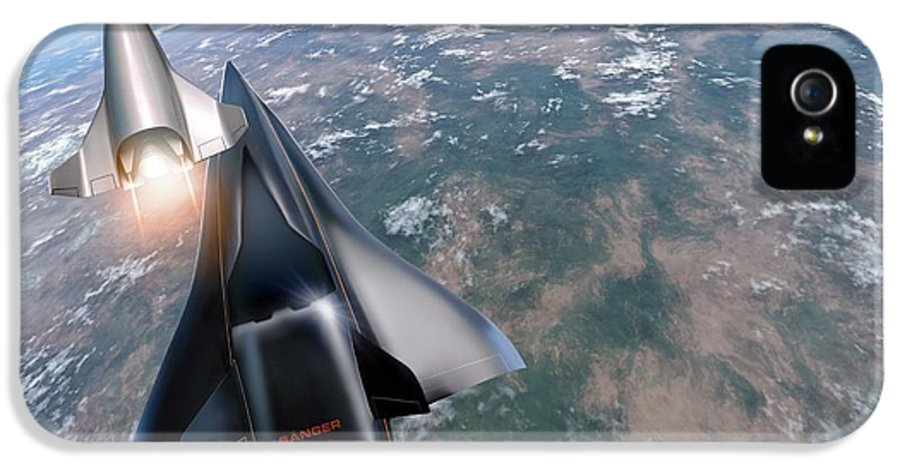 21st Century IPhone 5 Case featuring the photograph Saenger Horus Spaceplane, Artwork by Detlev Van Ravenswaay