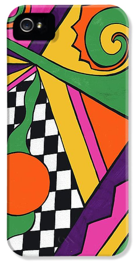 80's Glam IPhone 5 Case featuring the drawing 80's Glam by Mandy Shupp