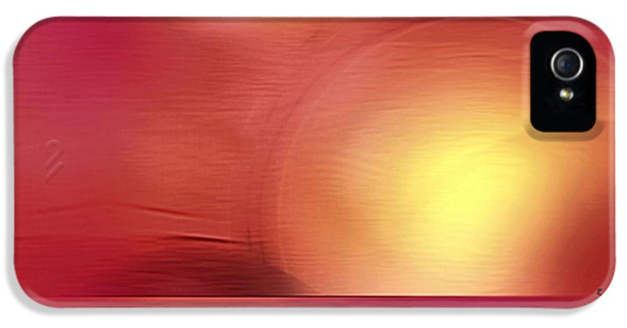 Abstract IPhone 5 Case featuring the digital art Abstract 11 by John Krakora