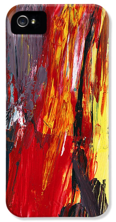 Abstract IPhone 5 Case featuring the photograph Abstract - Acrylic - Rising Power by Mike Savad