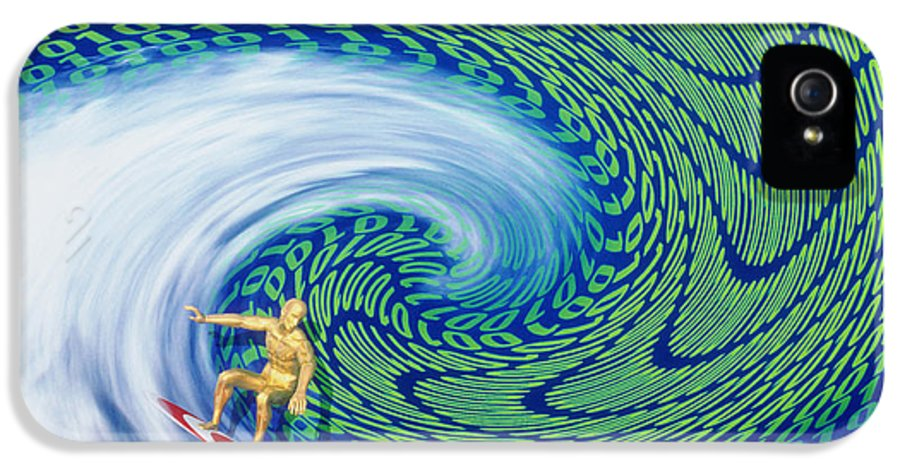 Surfing In Cyberspace IPhone 5 Case featuring the photograph Abstract Computer Artwork Of Surfing The Internet by Laguna Design