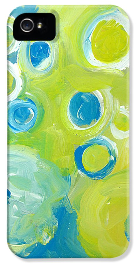 Abstract Art IPhone 5 Case featuring the painting Abstract IIII by Patricia Awapara