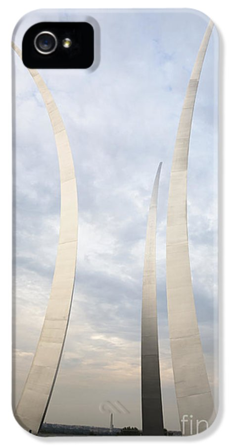 Abstract IPhone 5 Case featuring the photograph Air Force Memorial by Roberto Westbrook