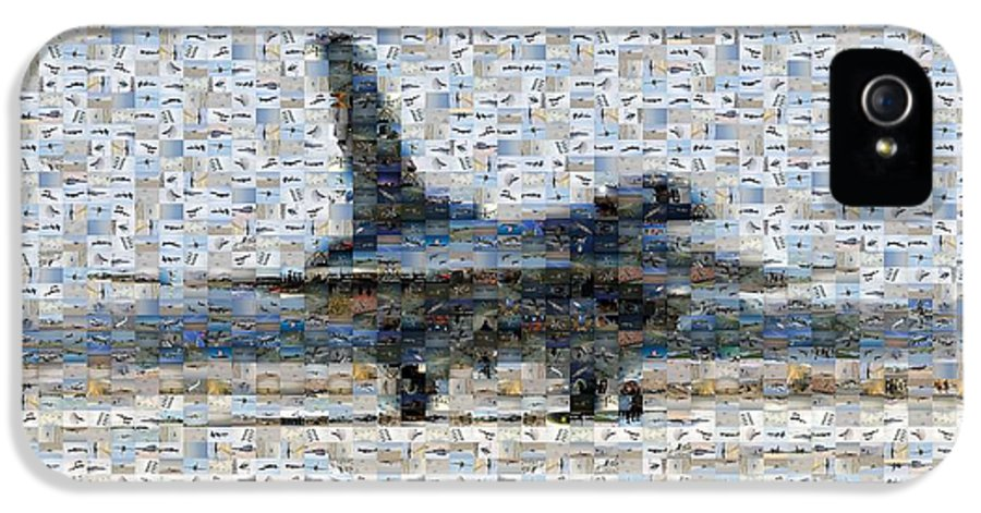 Airforce IPhone 5 Case featuring the photograph Airforce F-4866 Mosaic by Darleen Stry