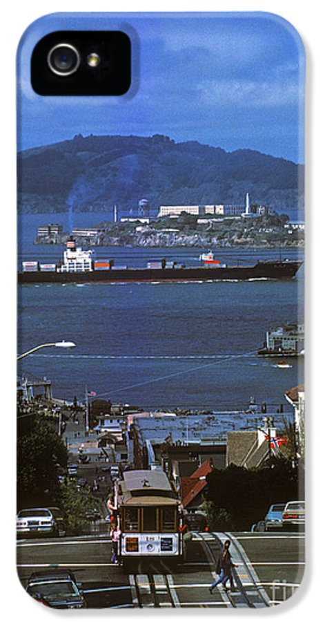 Alcatraz IPhone 5 Case featuring the photograph Alcatraz From San Fran Hilltop by Paul W Faust - Impressions of Light