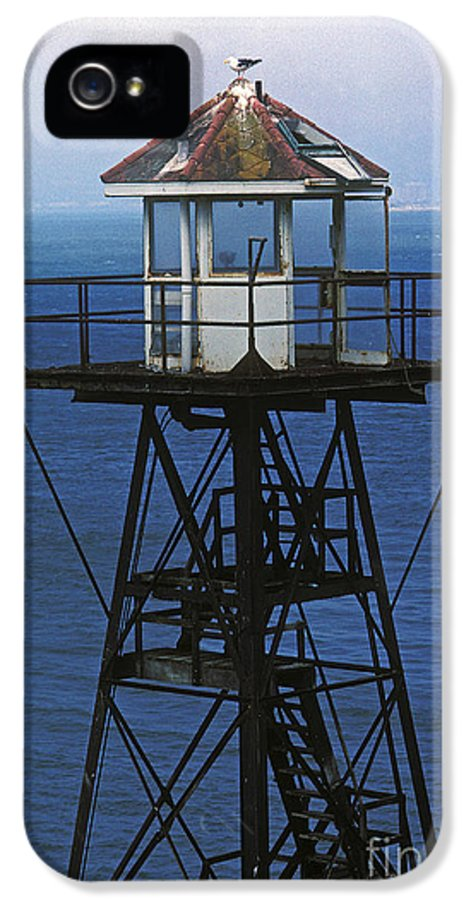 Alcatraz IPhone 5 Case featuring the photograph Alcatraz Watch Tower by Paul W Faust - Impressions of Light