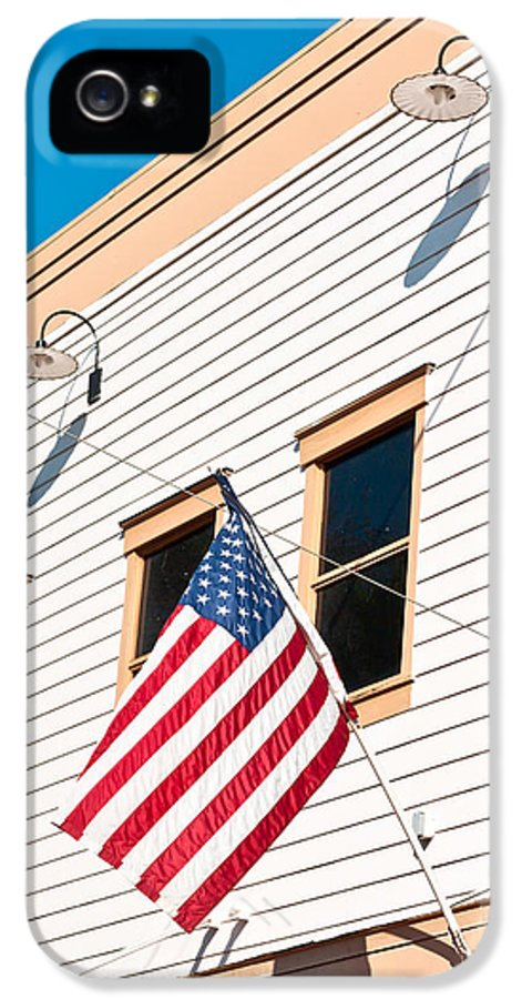 4th IPhone 5 Case featuring the photograph American Flag by Tom Gowanlock