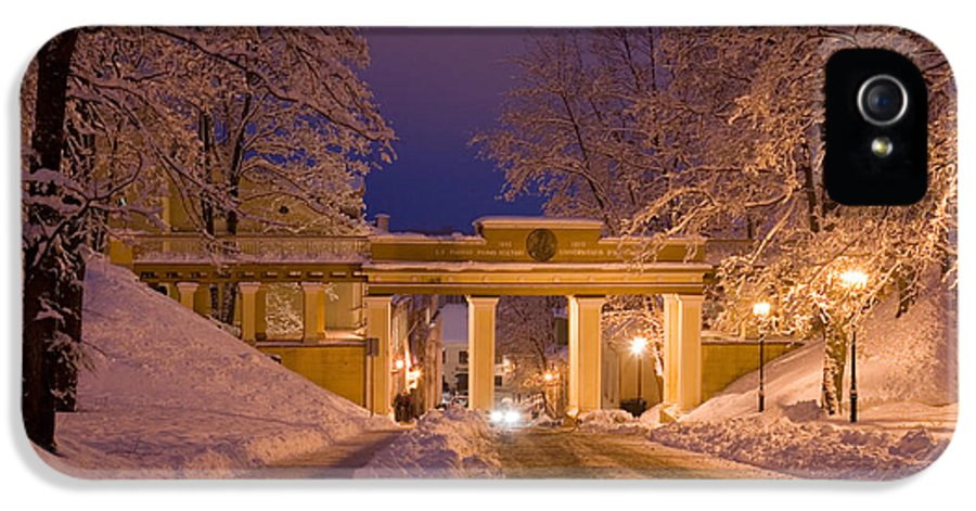 Angel's Bridge IPhone 5 Case featuring the photograph Angels Bridge In Winter by Jaak Nilson