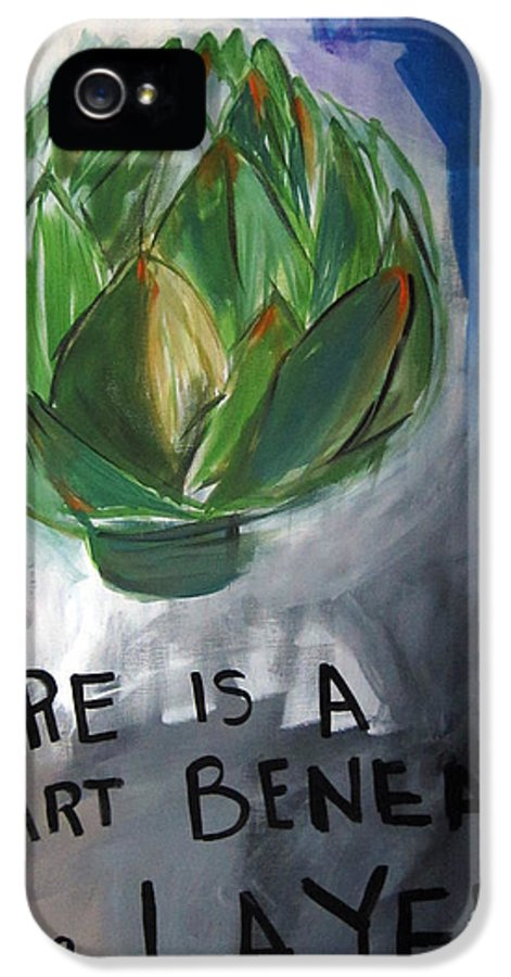 Artichoke IPhone 5 Case featuring the painting Artichoke by Linda Woods