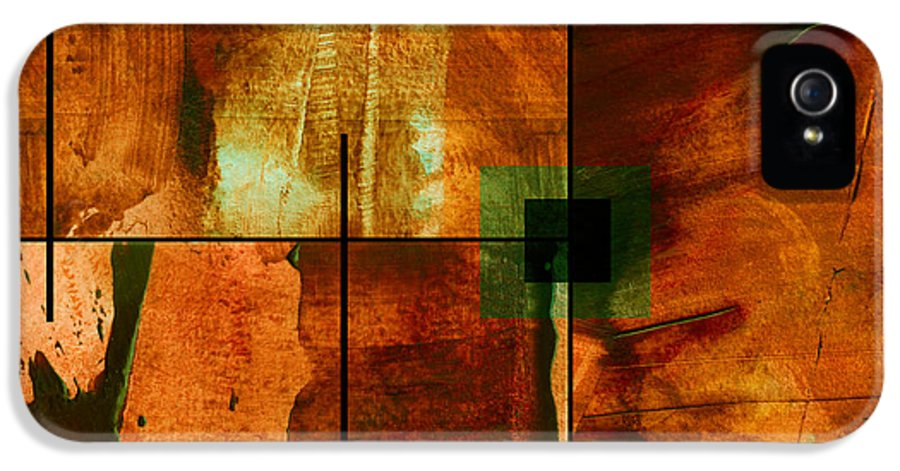 Abstract IPhone 5 Case featuring the mixed media Autumn Abstracton by Ann Powell