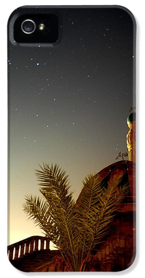 Baghdad IPhone 5 Case featuring the photograph Baghdad Mosque In The Night by Rick Frost