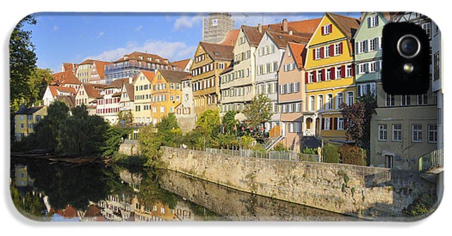 Tuebingen IPhone 5 Case featuring the photograph Beautiful German Town Tuebingen - Neckar Waterfront by Matthias Hauser