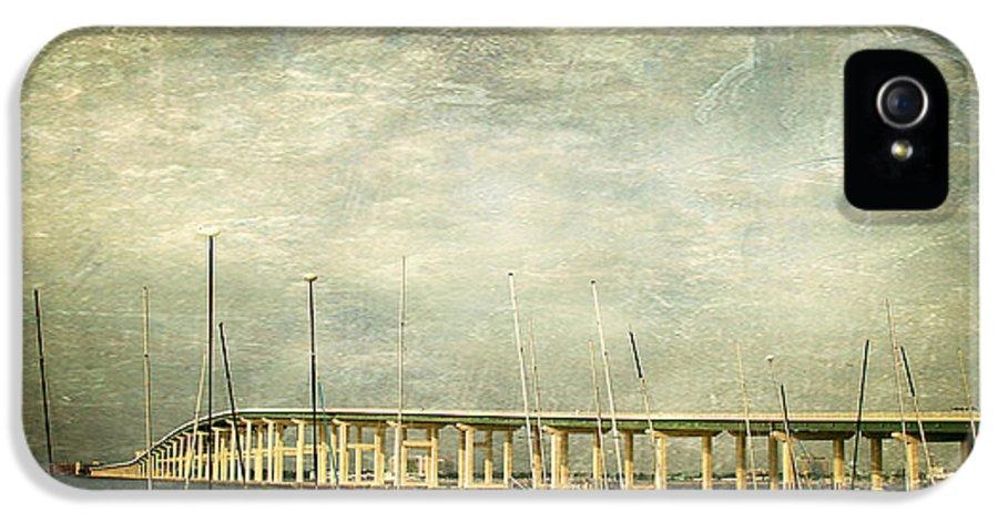 Biloxi Ocean Springs Bridge IPhone 5 Case featuring the photograph Biloxi Bay Bridge by Joan McCool