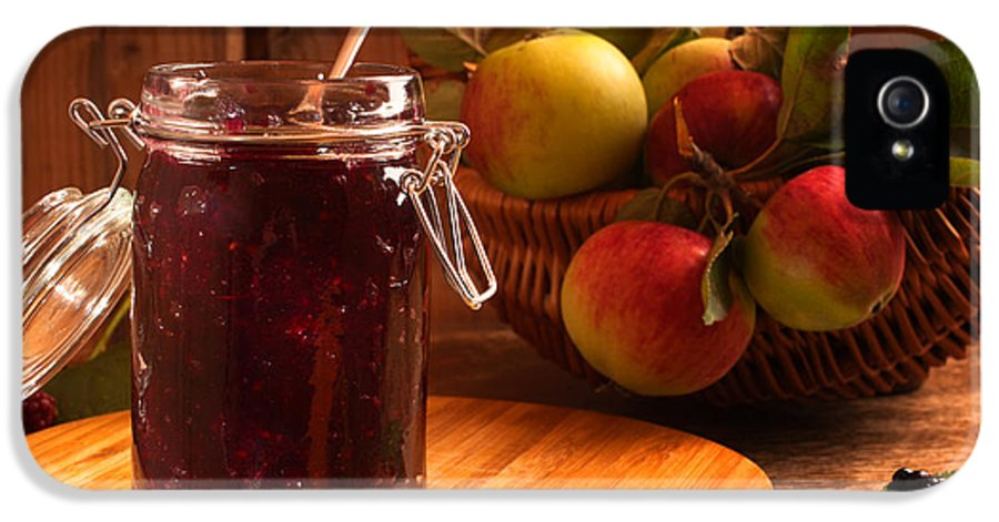 Apple IPhone 5 Case featuring the photograph Blackberry And Apple Jam by Amanda Elwell