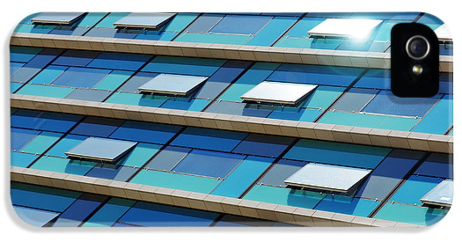 Abstract IPhone 5 Case featuring the photograph Blue Facade by Carlos Caetano
