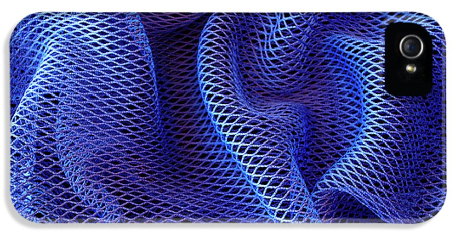 Abstract IPhone 5 Case featuring the photograph Blue Net Background by Carlos Caetano