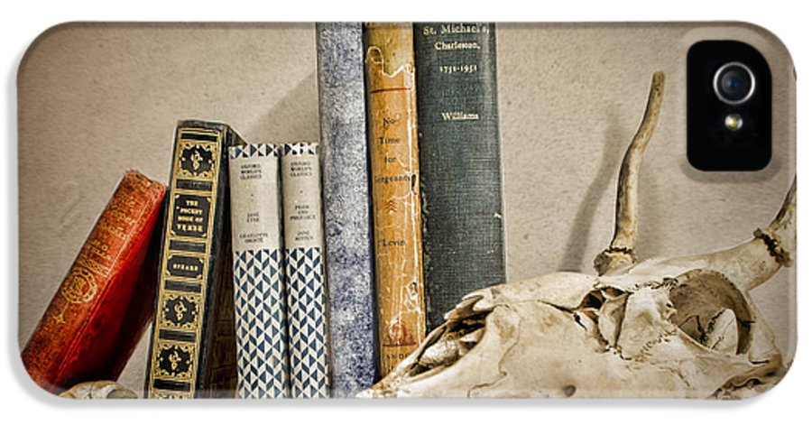 Bone IPhone 5 Case featuring the photograph Bone Collector Library by Heather Applegate