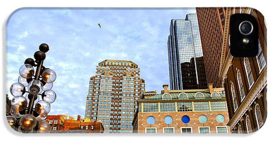 Boston IPhone 5 Case featuring the photograph Boston Downtown by Elena Elisseeva