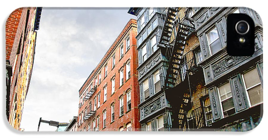 House IPhone 5 Case featuring the photograph Boston Street by Elena Elisseeva