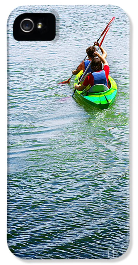 Active IPhone 5 Case featuring the photograph Boys Rowing by Carlos Caetano